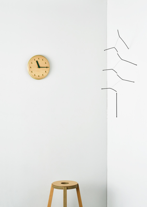 Lemnos releases new Paper-Wood Clocks made out of hybrid recycled colored paper and plywood