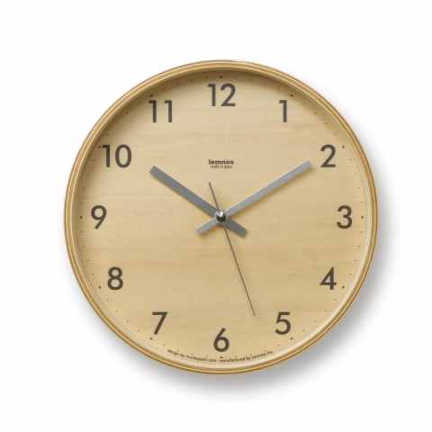Lemnos Plywood S GY Clock