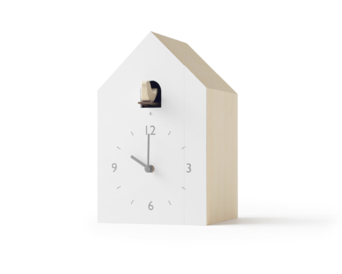 Lemnos Bookend Cuckoo Clock designed by Nendo